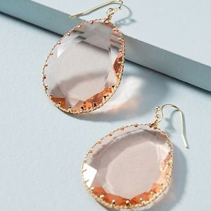 Anthropologie Regalia Drop Earrings NWT Rose Color